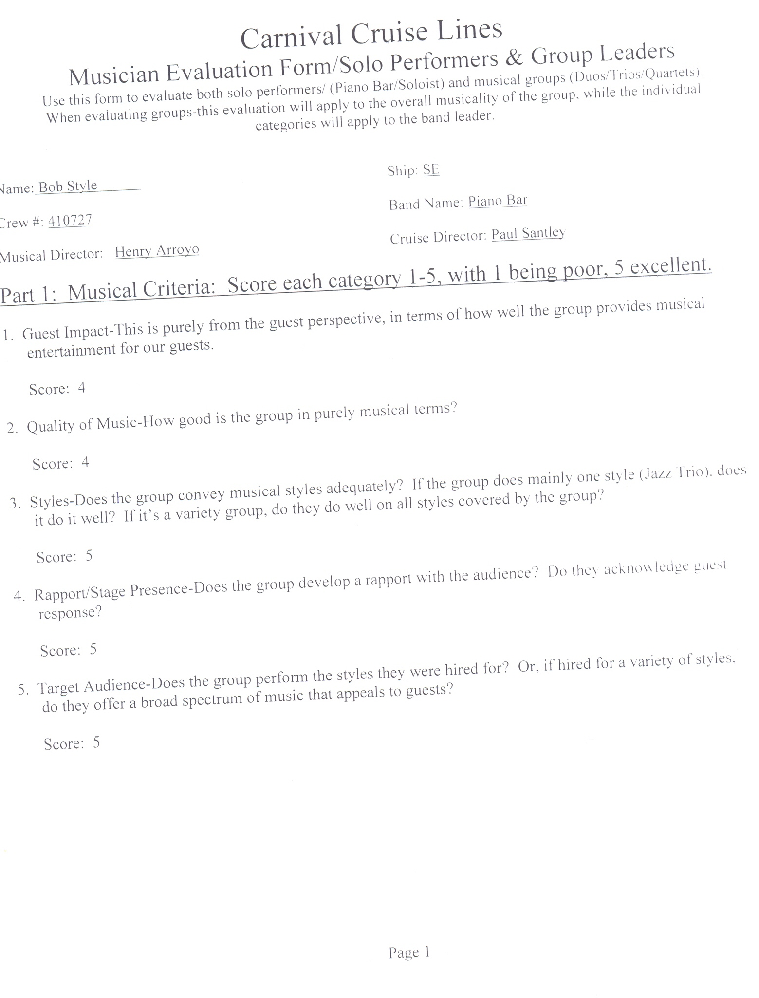 carnival cruise line employment application form